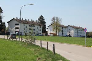Häuser der Gemeinde an der Baumgartenstraße.