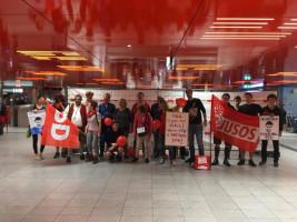 Die SPD aus dem Landkreis Miesbach fuhr zur NoPAG Demo