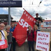 Auf dem Weg zur Demo in München.